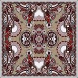 Bandanna floral decorativo tradicional de paisley Imagem de Stock
