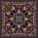 Bandanna floral decorativo tradicional de paisley Fotos de Stock Royalty Free