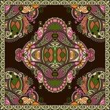 Bandanna florale ornementale traditionnelle de Paisley Photo stock