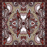 Bandanna florale ornementale traditionnelle de Paisley Images libres de droits