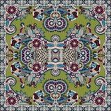 Bandanna florale ornementale traditionnelle de Paisley Image libre de droits