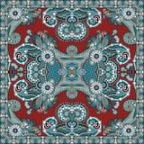 Bandanna florale ornementale traditionnelle de Paisley Photos stock