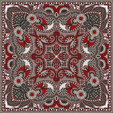 Bandanna florale ornementale traditionnelle de Paisley Photos stock