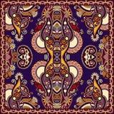 Bandanna floreale ornamentale tradizionale di Paisley Immagini Stock
