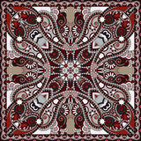 Bandanna floreale ornamentale tradizionale di Paisley Fotografie Stock Libere da Diritti