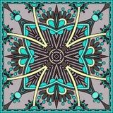 Bandanna floreale ornamentale tradizionale di Paisley Fotografie Stock
