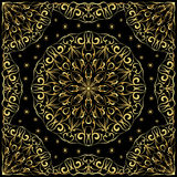 Bandanna with gold pattern. Royalty Free Stock Photo