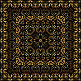 Bandanna with gold pattern. Stock Image