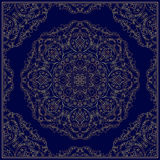 Bandanna with gold pattern. Royalty Free Stock Images