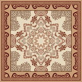 Bandanna with openwork pattern with Breeden (Richelieu) Royalty Free Stock Photos