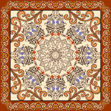 Bandanna  with  ornament in Moroccan style Royalty Free Stock Photography