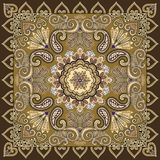 Bandanna with a paisley, openwork pattern decorated Stock Photos