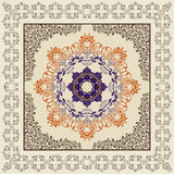 Bandanna  with a pattern in the Moorish style, with colorful man Royalty Free Stock Image