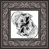 Bandany czaszki czerni r?ki bia?y wektorowy rysunek ilustracji