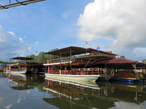 Bandar Penawar seen from Sungai Lebam River Royalty Free Stock Image