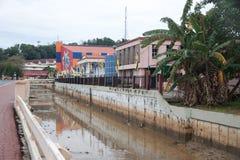 Bandar Seri Begawan, Brunei canal photo stock