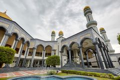 Bandar Seri Begawan,Brunei Darussalam-MARCH 31,2017: Jame Asr Hassanil Bolkiah Mosque. In center of city Stock Photos