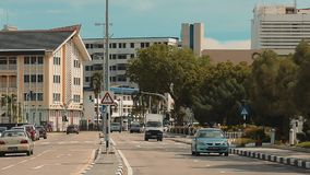 Bandar Seri Begawan,Brunei Darussalam-MARCH 31,2017: The road in the center of the capital stock footage
