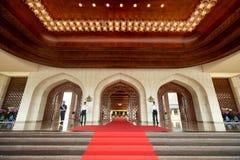 Bandar Seri Begawan, Brunei Darussalam-MARS 31,2017: Den huvudsakliga ingången till slotten av sultan av Brunei Arkivbild