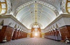 Bandar Seri Begawan, Brunei Darussalam-MARS 31,2017: Sultan Omar Ali Saifuddin Mosque Arkivbild