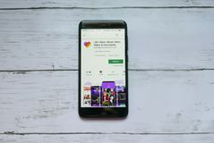BANDAR SERI BEGAWAN, BRUNEI - 21. JANUAR 2019: Wie Video - magische Videohersteller- und Gemeinschaftsanwendung auf androiden Goo lizenzfreie stockfotos