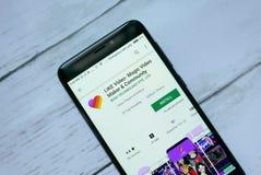BANDAR SERI BEGAWAN, BRUNEI - 21. JANUAR 2019: Wie Video - magische Videohersteller- und Gemeinschaftsanwendung auf androiden Goo stockfoto