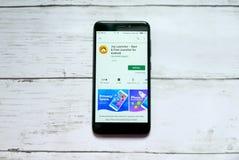 BANDAR SERI BEGAWAN,BRUNEI - JANUARY 21ST,2019 : Joy Launcher application on an android Google Play Store. royalty free stock photo
