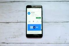 BANDAR SERI BEGAWAN, BRUNEI - 21 JANVIER 2019 : Application de joueur de MX sur un Google Play Store androïde photo libre de droits
