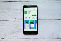 BANDAR SERI BEGAWAN, BRUNEI - 21 JANVIER 2019 : Application de maison de MI sur un Google Play Store androïde photographie stock