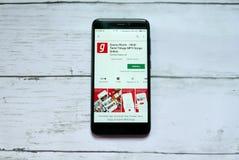 BANDAR SERI BEGAWAN, BRUNEI - 21 JANVIER 2019 : Application de musique de Ganaa sur un Google Play Store androïde photographie stock
