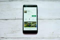 BANDAR SERI BEGAWAN, BRUNEI - 21 JANVIER 2019 : Application de Roblox sur un Google Play Store androïde photographie stock