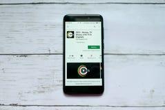 BANDAR SERI BEGAWAN, BRUNEI - 21 JANVIER 2019 : Application ZEE5 sur un Google Play Store androïde photographie stock