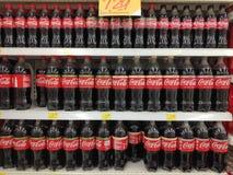 BANDAR SERI BEGAWAN,BRUNEI - SEPTEMBER 27TH,2018 : Coca-Cola bottle drink on supermarket rack.  royalty free stock images