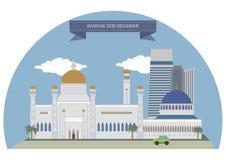 Bandar Seri Begawan, Sultanat Brunei stock abbildung