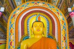 Bandarawela佛教寺庙的菩萨在斯里兰卡 免版税库存图片