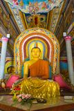Buddha in Bandarawela Buddhist Temple on Sri Lanka. Bandarawela, Sri Lanka - August 01, 2017: Large statue of Buddha in Bandarawela Buddhist Temple on Sri Lanka stock photography