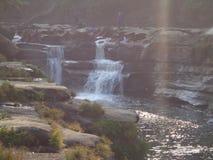 bandarban nafakhum的瀑布 库存照片