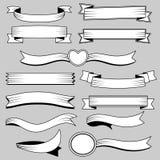 Bandbaner i retro stil vektor illustrationer