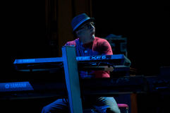 bandcarlos david K mathews s santana Arkivfoto