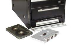 Bandcassette en bandspeler Royalty-vrije Stock Foto's