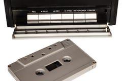 Bandcassette en bandspeler Royalty-vrije Stock Afbeeldingen