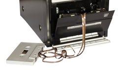 Bandcassette en bandspeler Stock Afbeelding