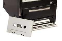 Bandcassette en bandspeler Royalty-vrije Stock Afbeelding