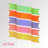Banddesign med den färgrika signalvektormappen Arkivfoto