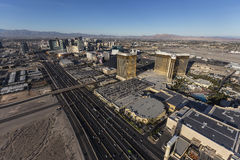 Bande aérienne de Las Vegas et I15 Photographie stock libre de droits