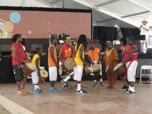 Bande africaine de musique au festival Photos libres de droits