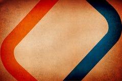 Bande arancioni blu contro i wi grungy della priorità bassa Fotografia Stock Libera da Diritti