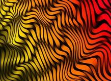 Bande astratte di colore struttura variopinta 3D Fotografia Stock