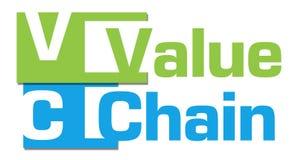 Bande astratte verde blu della catena di valori Fotografie Stock