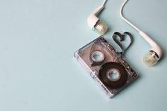Bande audio sur un fond bleu Photo libre de droits